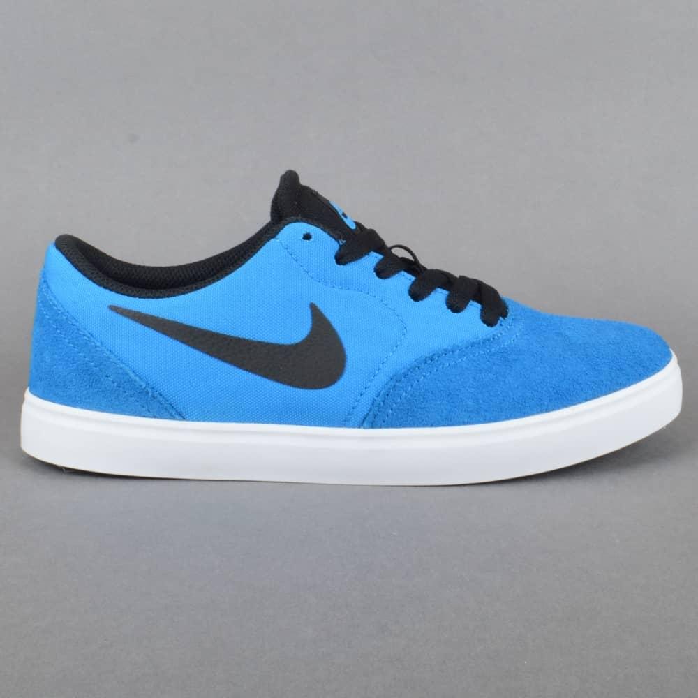 Check GS Kids Skate Shoes  Photo Blue/Black