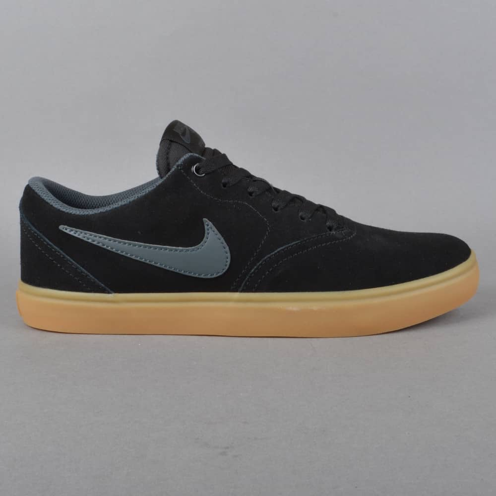 7f390f60abf1 Nike SB Check Solar Skate Shoes - Black Anthracite - SKATE SHOES ...