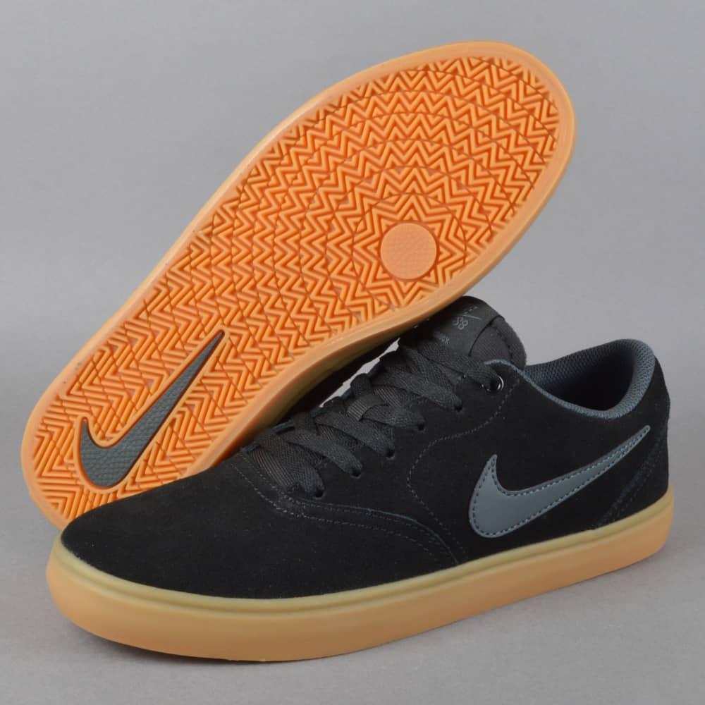 fa3144df1d6c Nike SB Check Solar Skate Shoes - Black Anthracite - SKATE SHOES ...