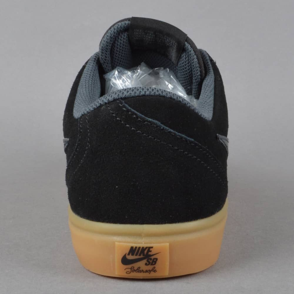 ef3c69659ed Nike SB Check Solar Skate Shoes - Black Anthracite - SKATE SHOES ...