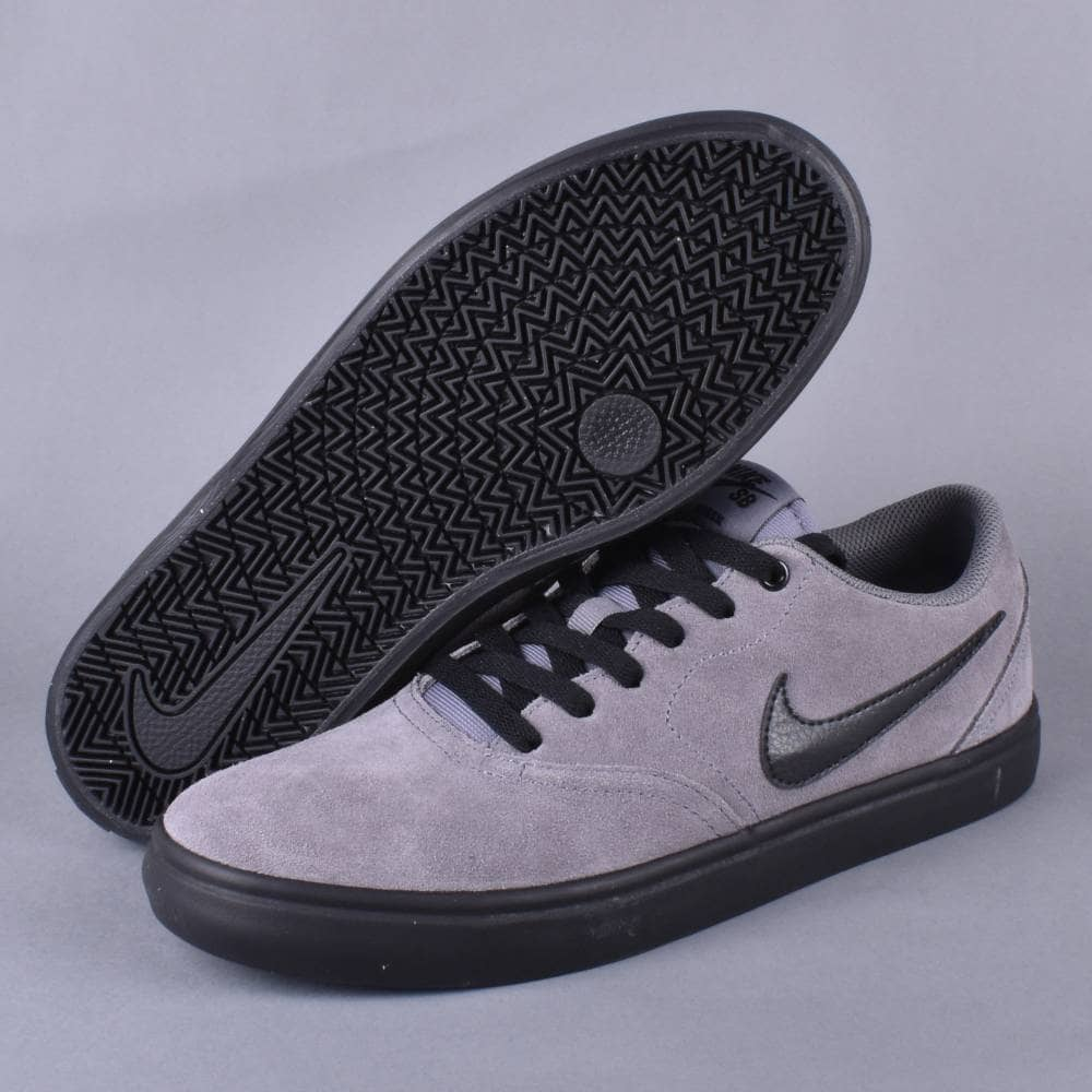 d1713c2d17ff79 Nike SB Check Solar Skate Shoes - Gunsmoke Black-White - SKATE SHOES ...