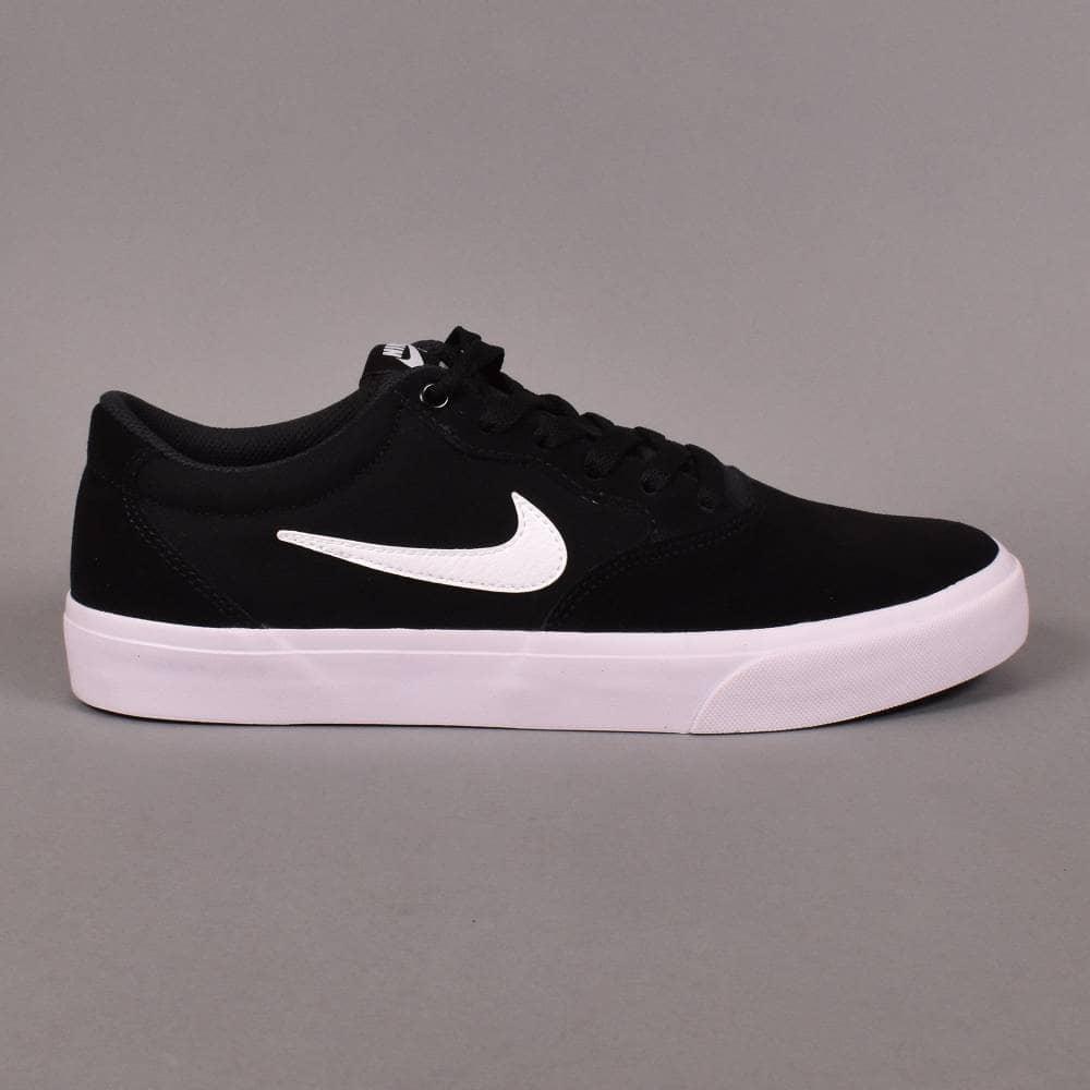 1965adb6edb9 Nike SB Chron SLR Skate Shoes - Black/White - SKATE SHOES from ...