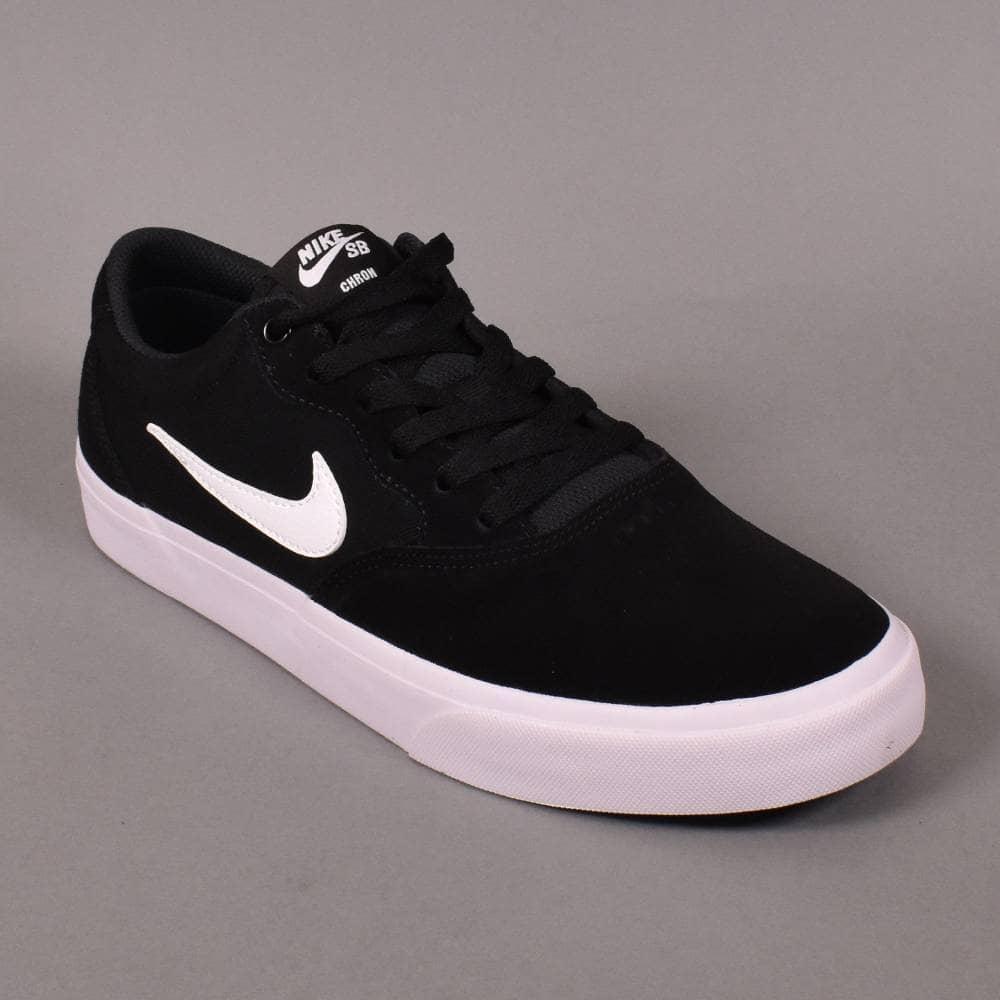 via Mortale Pef  Nike SB Chron SLR Skate Shoes - Black/White - SKATE SHOES from Native Skate  Store UK