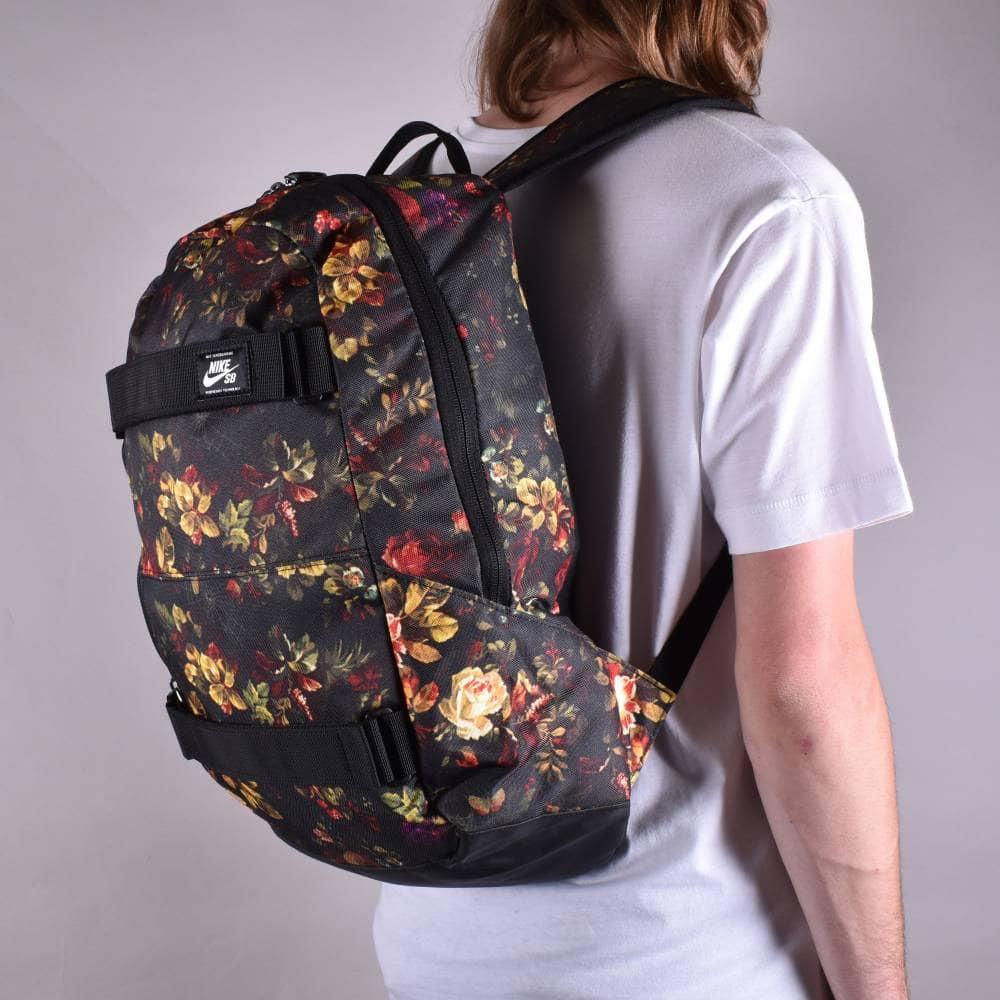 99f25984166 Nike SB Courthouse Skate Backpack - Floral (Black/Black/Black ...