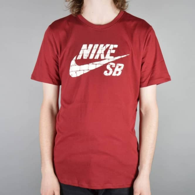 cbed8616 Nike SB Dri-Fit Brick Fill Skate T-Shirt - Team Red/Team Red/Sail ...