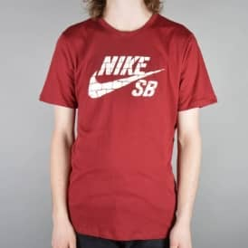 Dri-Fit Brick Fill Skate T-Shirt - Team Red/Team Red/Sail