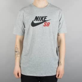 Nike SB Dri-Fit Icon Logo Skate T-Shirt - Grey