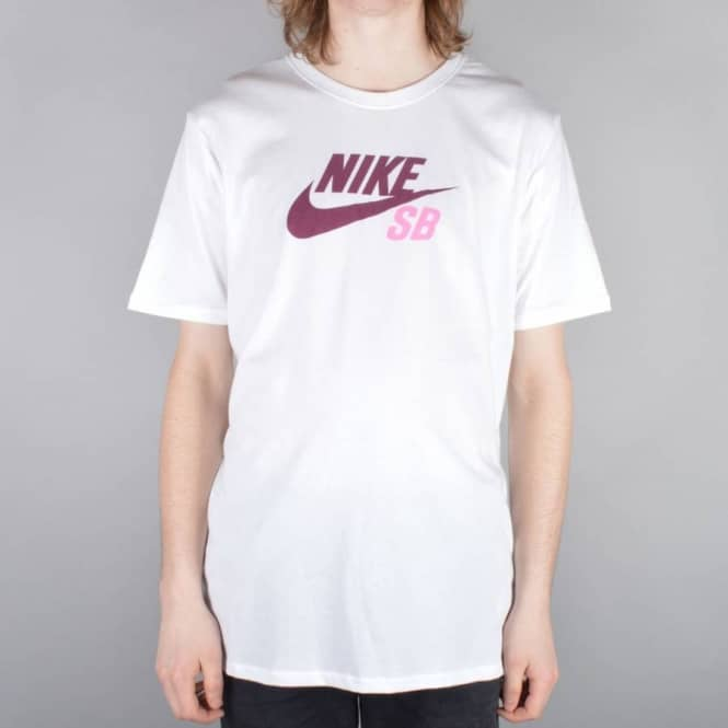 0df4a86c Nike SB Dri-Fit Icon Logo Skate T-Shirt - White/White/Team Red ...