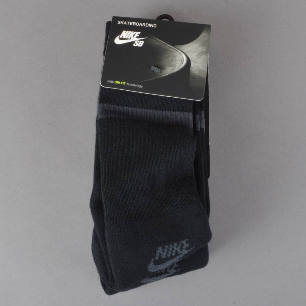 a88b0f86a Nike SB Dry Crew Socks Black - 3 Pack - ACCESSORIES from Native ...