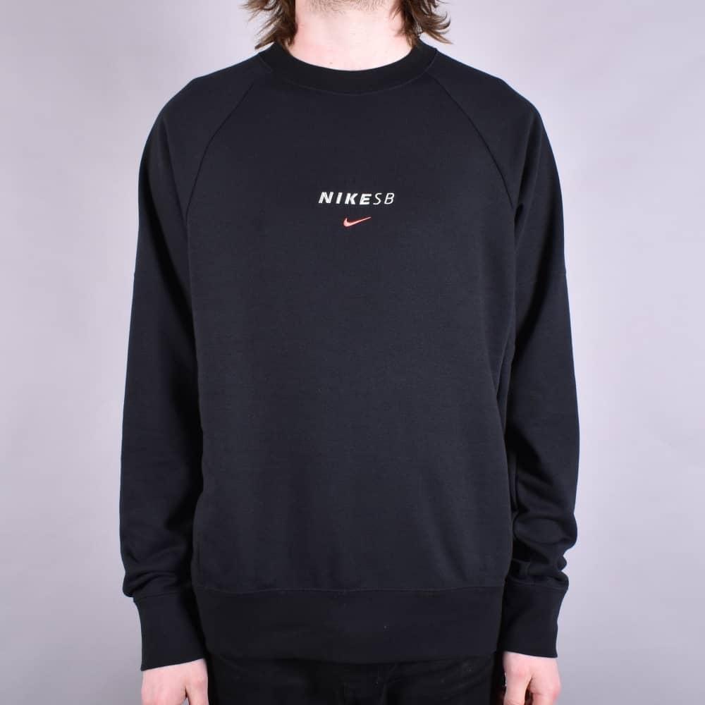 40afc680c Nike SB Dry Everett Crew - Black/Solar Red - SKATE CLOTHING from ...