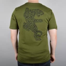 Dry Leopard Skate T-Shirt - Legion Green/Black