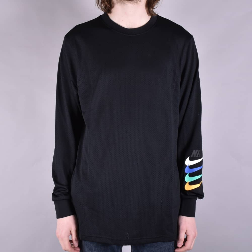 bc1223f7a Nike SB Dry Mesh Longsleeve Top - Black - SKATE CLOTHING from Native ...