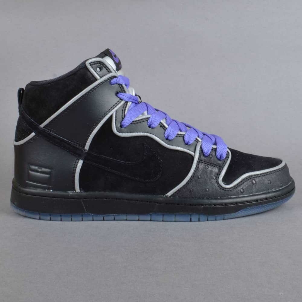 los angeles 5df81 6286c Dunk High Elite SB Skate Shoes - Black/Black-White-Purple Haze