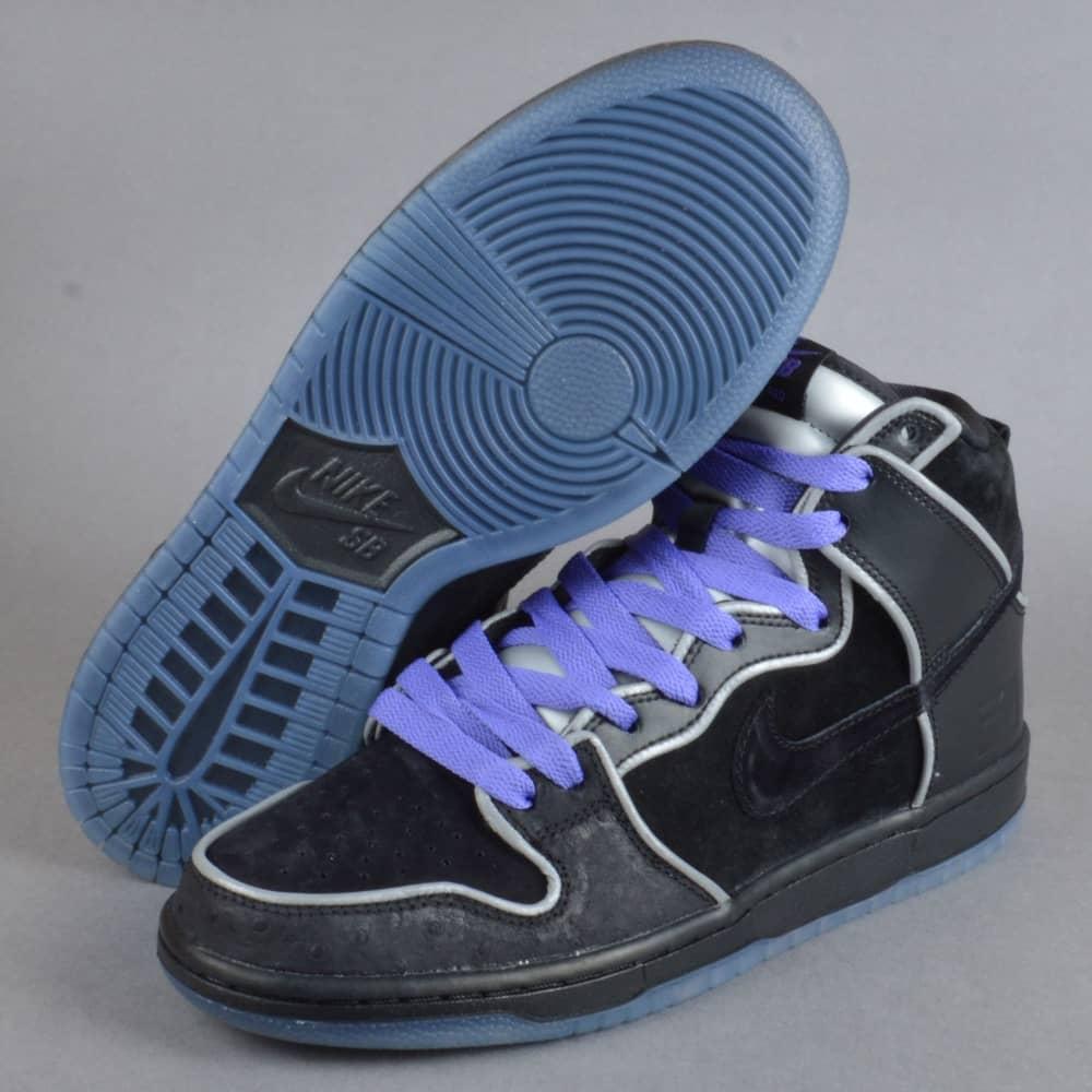 los angeles 657db a15be Dunk High Elite SB Skate Shoes - Black/Black-White-Purple Haze