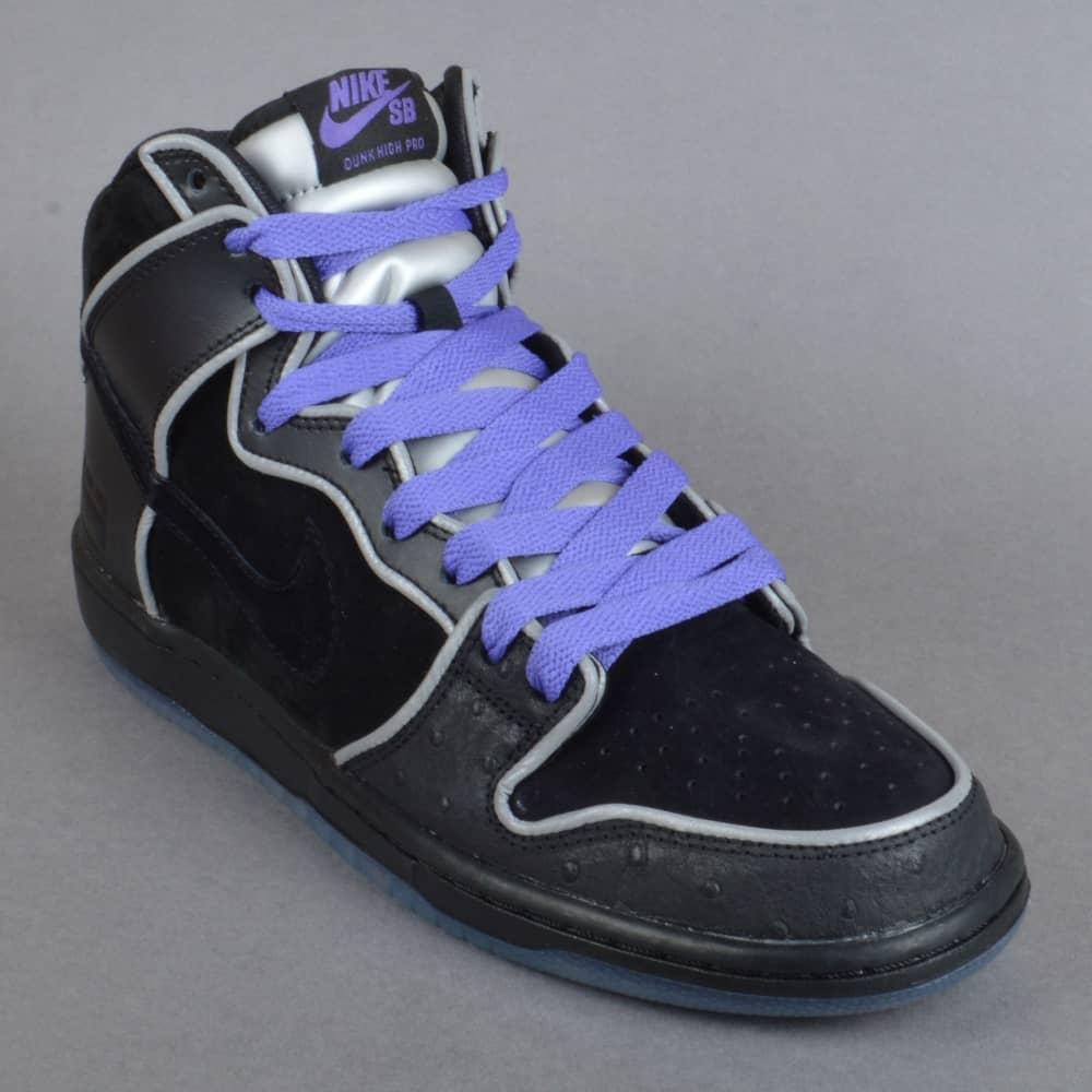 los angeles 61191 047f2 Dunk High Elite SB Skate Shoes - Black/Black-White-Purple Haze