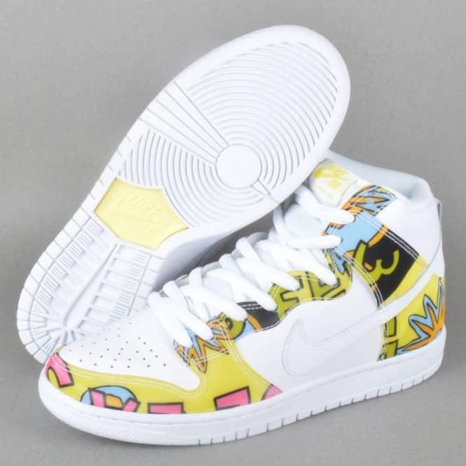 new arrival 5d0bd d3dc8 Nike SB Dunk High Premium De La Soul SB Quikstrike - White/Firefly