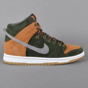 Nike SB Dunk High Premium HG QS Homegrown Skate Shoes - Sequoia/Cool Grey-Ale Brown
