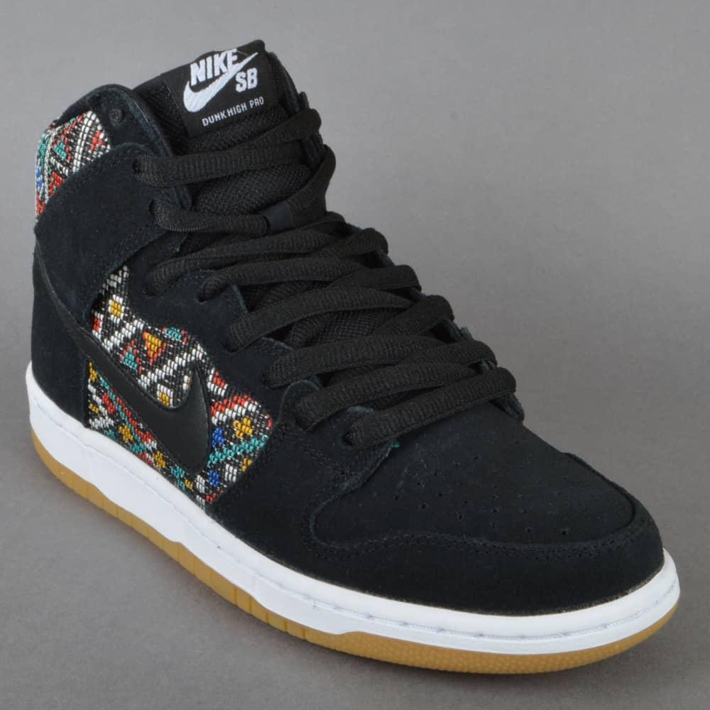 48eca7217139 Nike SB Dunk High Premium Skate Shoes - Black Black Rio Teal-White ...