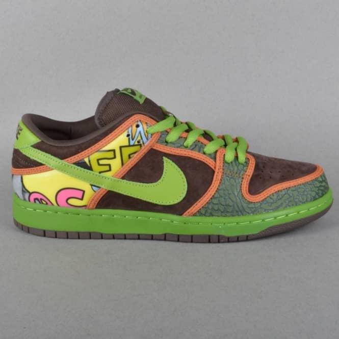 factory authentic db909 058dc Nike SB Dunk Low Premium De La Soul SB Quick Strike Skateboard Shoes -  Safari/Altitude Green-Baroque Brown