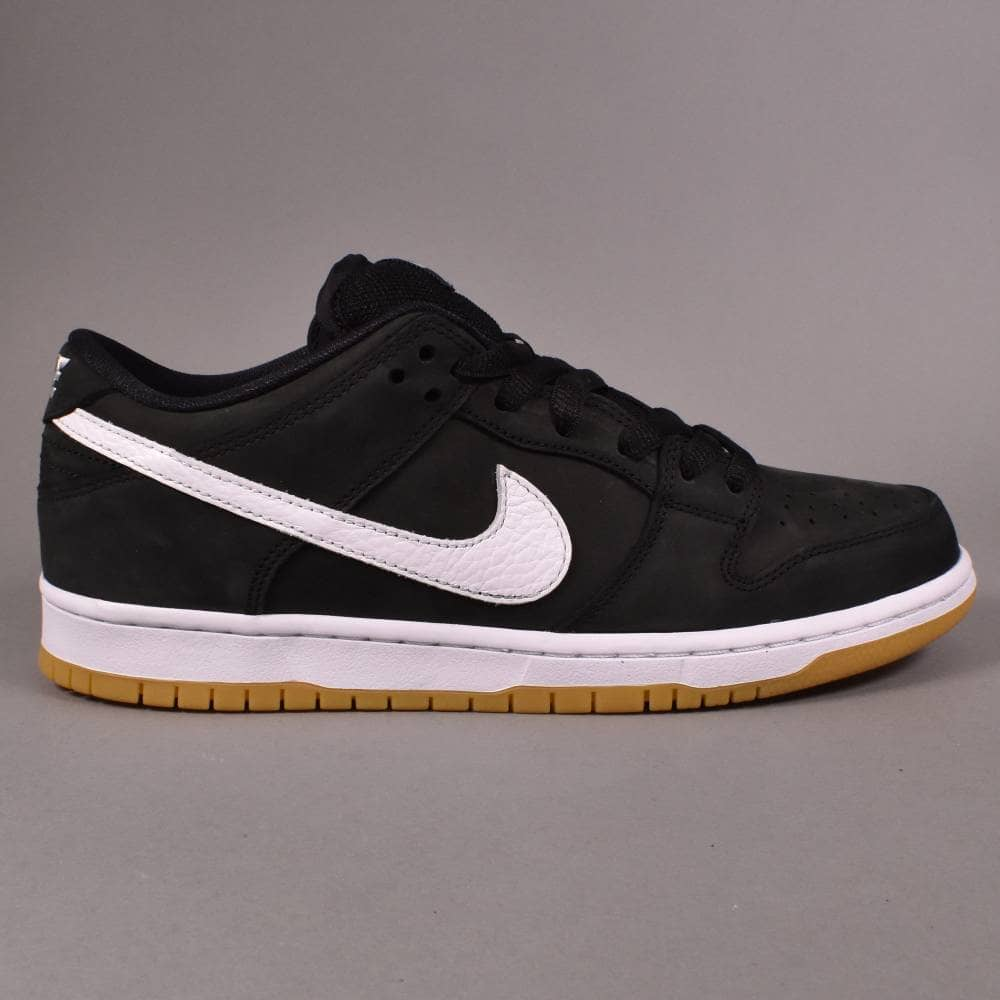 detailing 0dd95 b8048 Nike SB Dunk Low Pro ISO (Orange Label) Skate Shoes - Black/White-Black