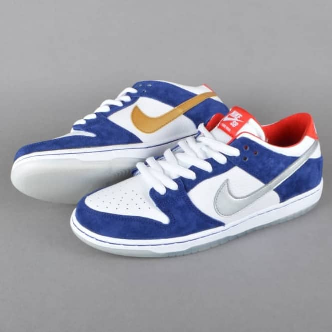 size 40 09e4b aafb6 Dunk Low Pro IW QS Skate Shoes - Deep Royal Blue Metallic Silver-University