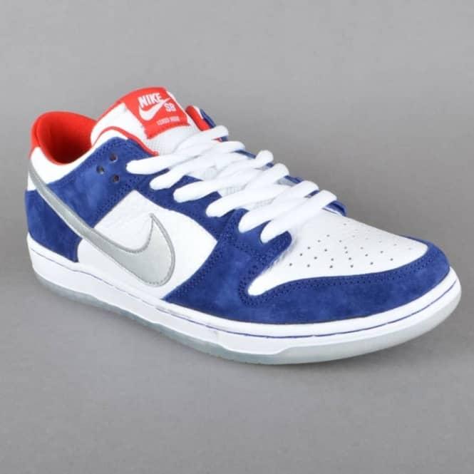 low priced 0684f deff5 Dunk Low Pro IW QS Skate Shoes - Deep Royal BlueMetallic Silver-University