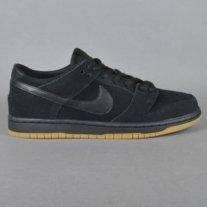Nike SB Dunk Low Pro IW Skate Shoes - Black/Black Gum-Light Brown