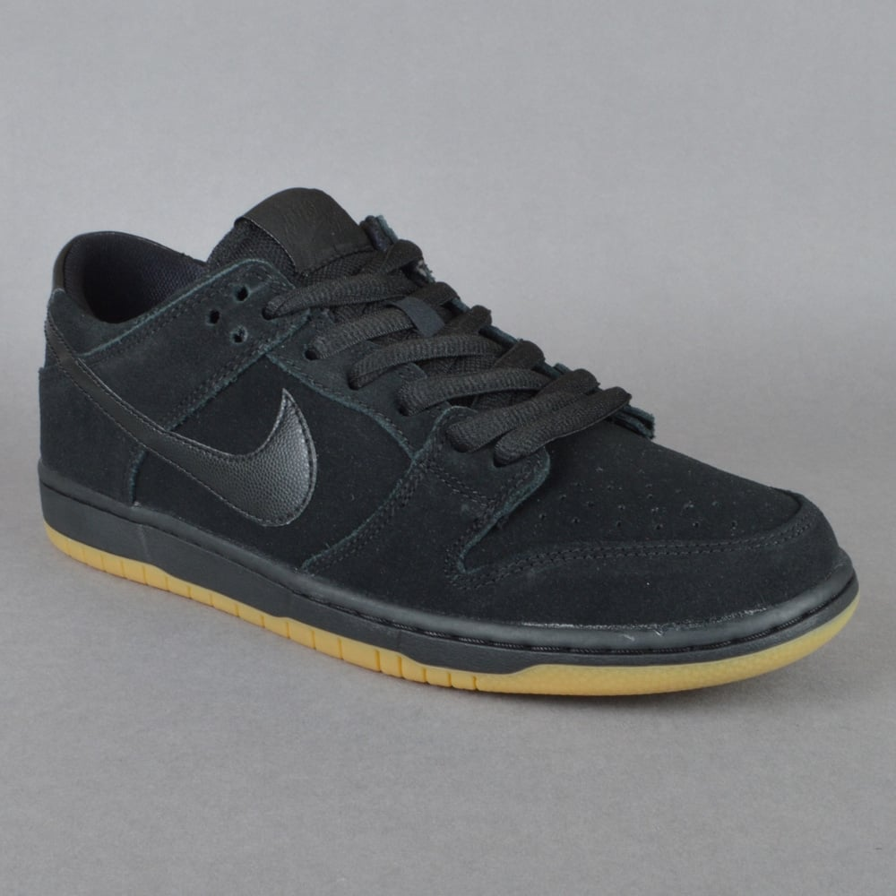 huge selection of 4b6e9 59b2e Nike SB Nike SB Dunk Low Pro IW Skate Shoes - Black Black Gum-Light Brown