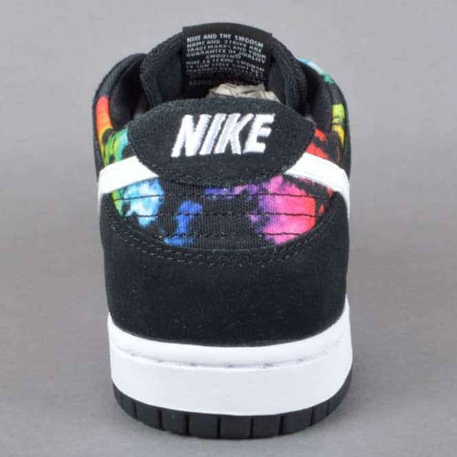 ae3117d2d774 Nike SB Dunk Low Pro IW Skate Shoes - Black White-Multi Colour ...