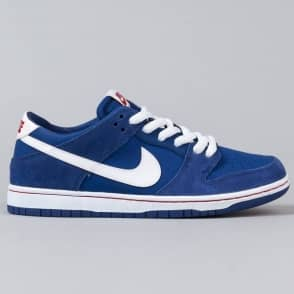 Nike SB Dunk Low Pro IW Skate Shoes - Deep Royal/White-Gym Red