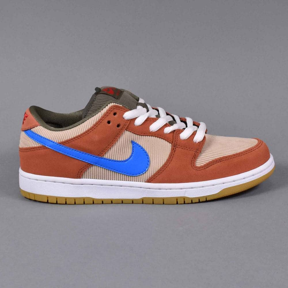 outlet store sale special for shoe low price sale Nike SB Dunk Low Pro Skate Shoes - Dusty Peach/Photo Blue-Desert Ore