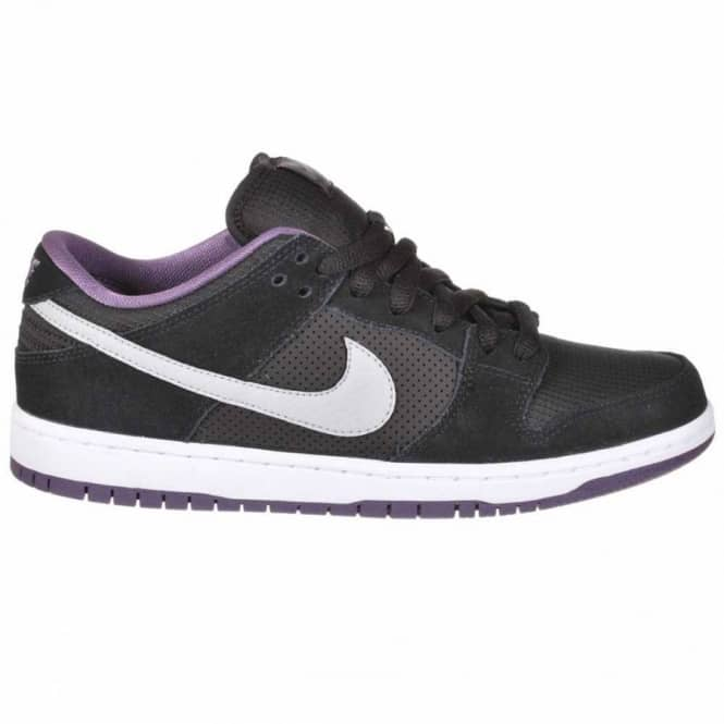 official photos d8103 40735 Nike SB Dunk Low Skate Shoe - BlackWolf GreyPurple