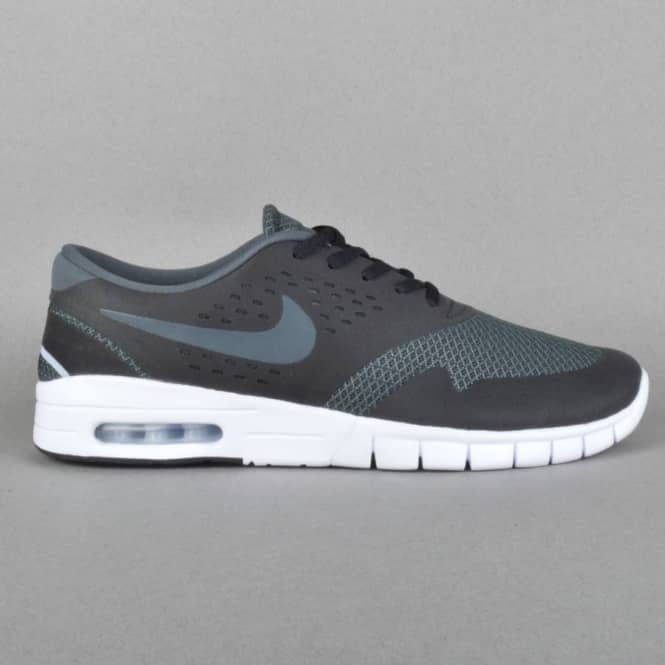 wholesale dealer 4f6b2 ea183 Nike SB Eric Koston 2 Max Skate Shoes - Black/Anthracite-Wolf Grey ...