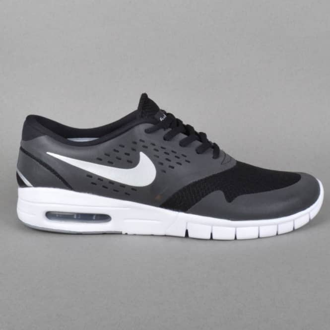 quality design 74b4d 21d90 Nike SB Eric Koston 2 Max Skate Shoes - Black/Metalic Silver-White ...