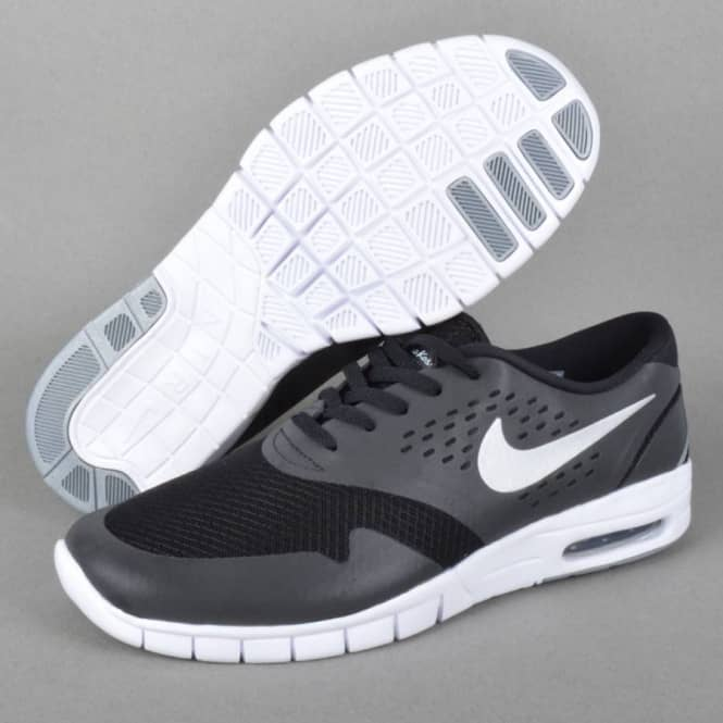 Nike SB Eric Koston 2 Max Skate Shoes BlackMetalic Silver White
