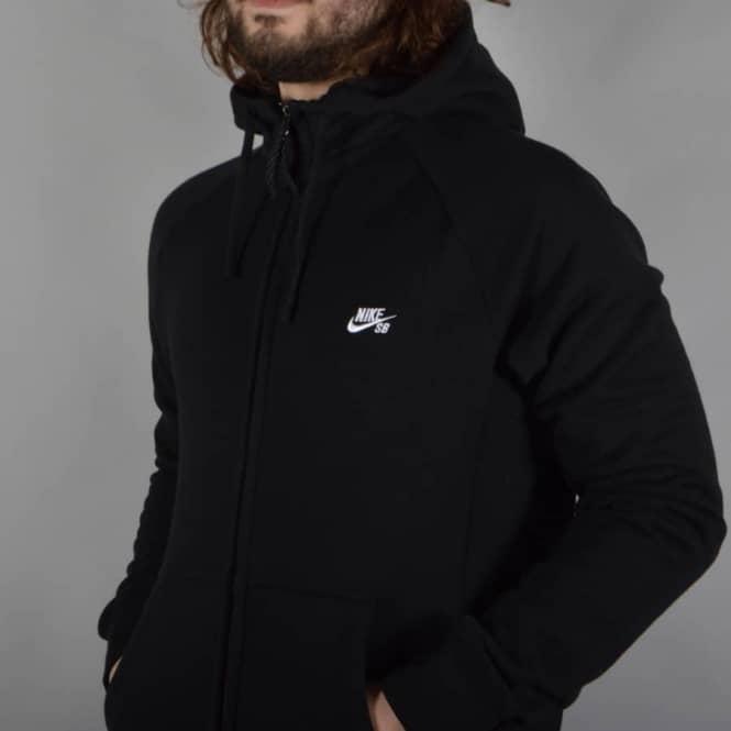 448e62fcb Nike SB Everett Graphic Full Zip Hoodie - Black - SKATE CLOTHING ...