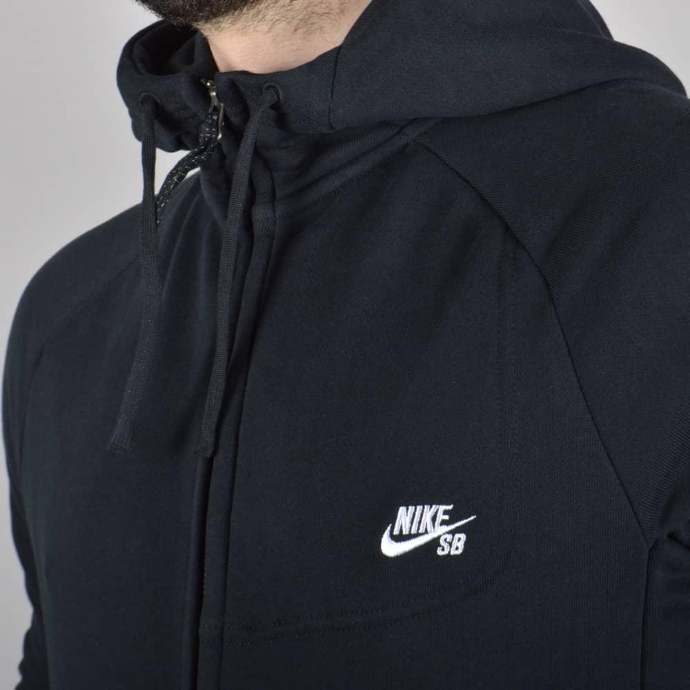 9533e301d Nike SB Everett Zip Hoodie - Black/White - SKATE CLOTHING from ...