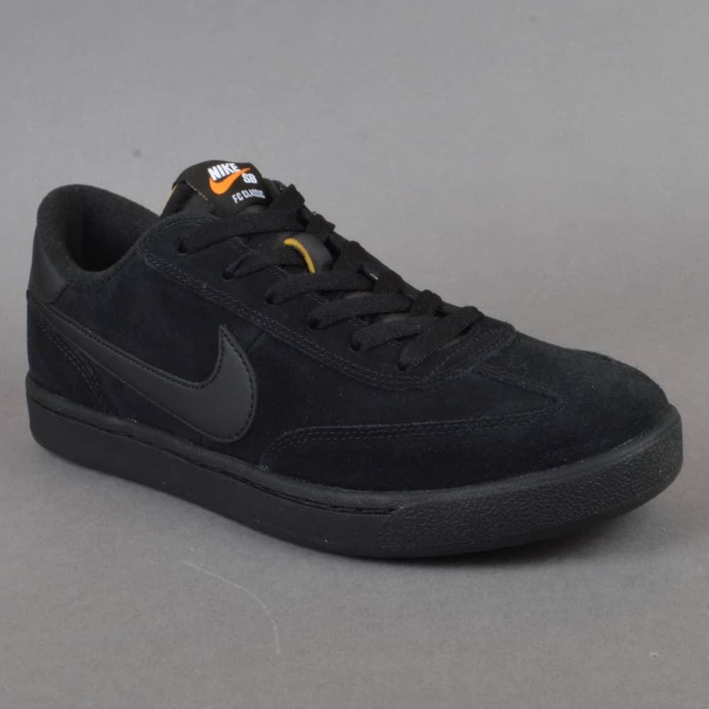 9238acda873 Nike SB FC Classic Skate Shoes - Black Black-Black-Vivid Orange ...