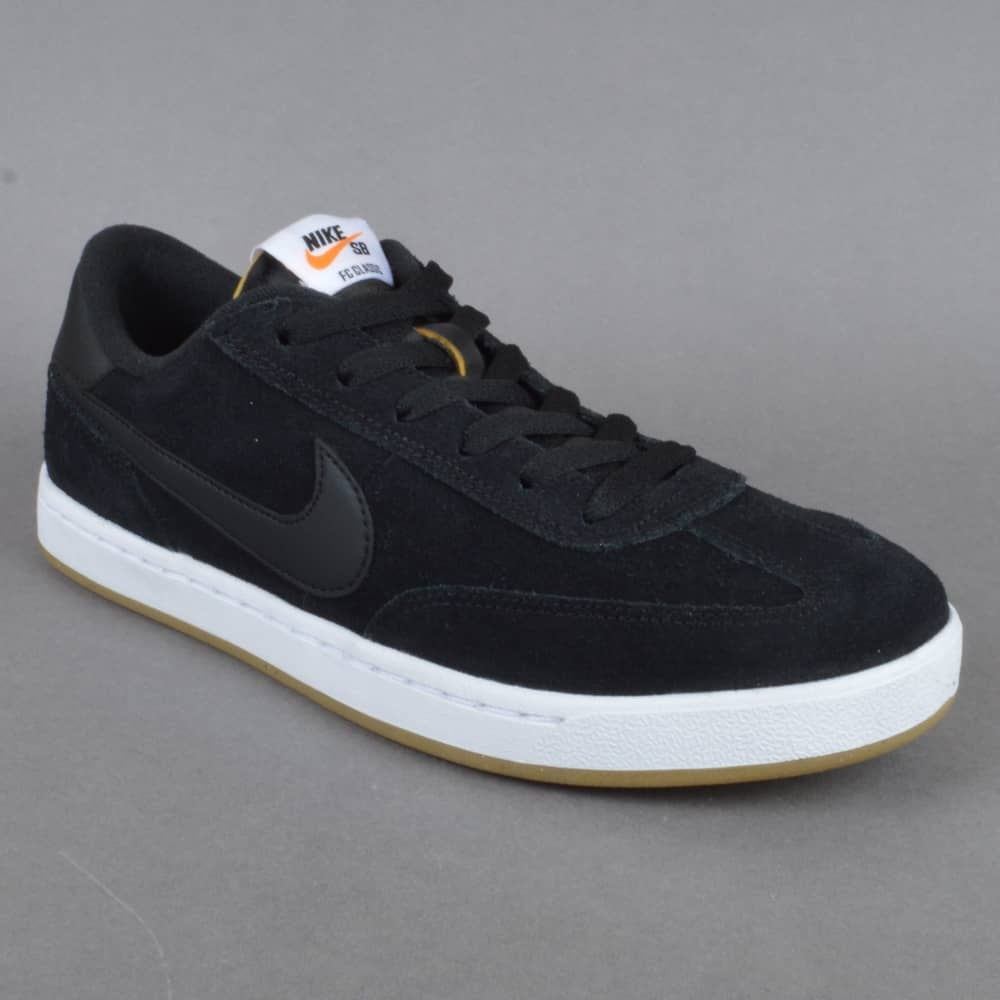 super popular 756c8 1ecae FC Classic Skate Shoes - Black Black-White-Vivid Orange