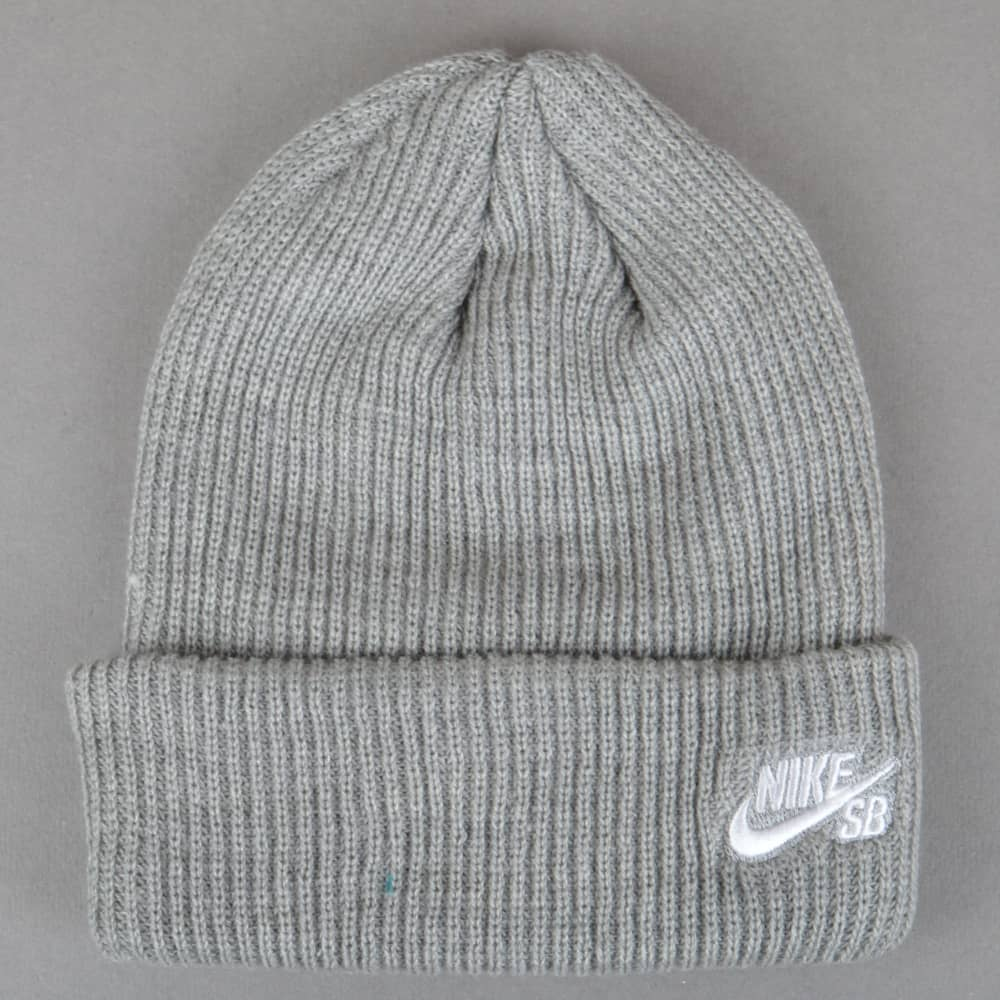 3da6f268270 Nike SB Fisherman Beanie - Dark Grey Heather White - SKATE CLOTHING ...