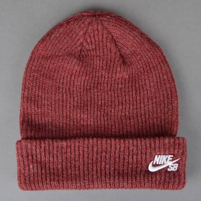 daeb61347af Nike SB Fisherman Beanie - Medium Team Red Heather White - SKATE ...