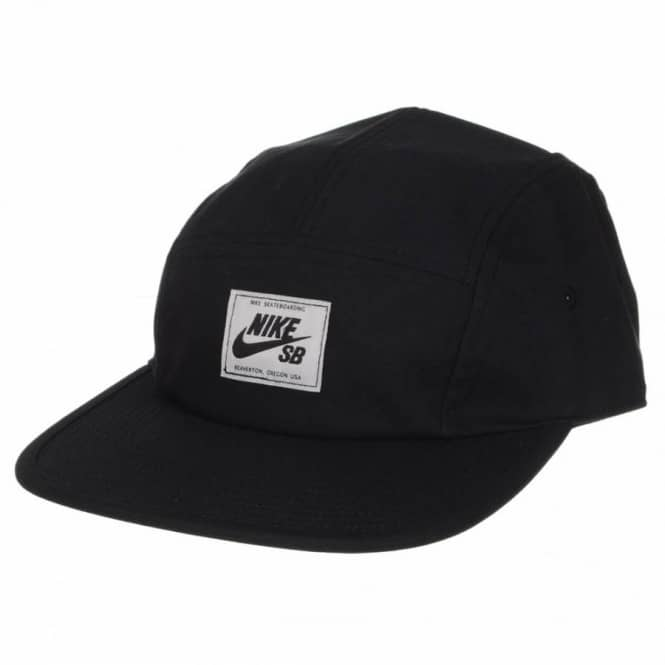 915f2f53973db Nike SB Five Panel Cap - Black - Caps from Native Skate Store UK