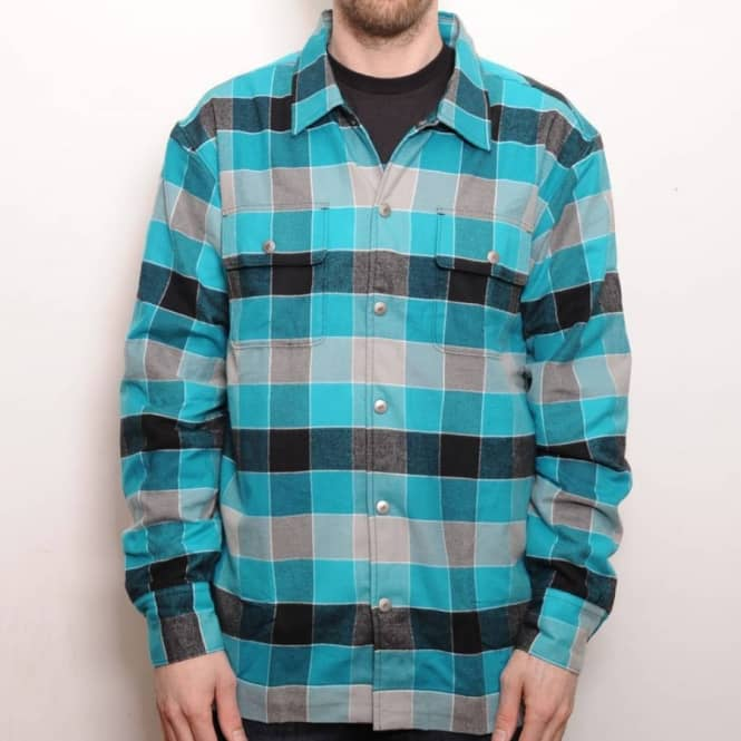 cost charm shop outlet Flannel Overshirt Teal