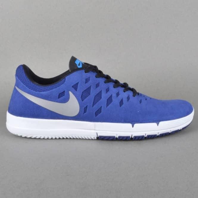Nike SB Free SB Skate Shoe - Deep Royal Blue Metallic Silver-White ... 1a03d3c34