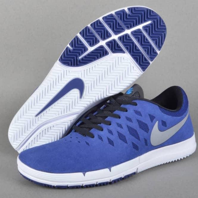 new high quality lowest discount best wholesaler Nike SB Free SB Skate Shoe - Deep Royal Blue/Metallic Silver-White