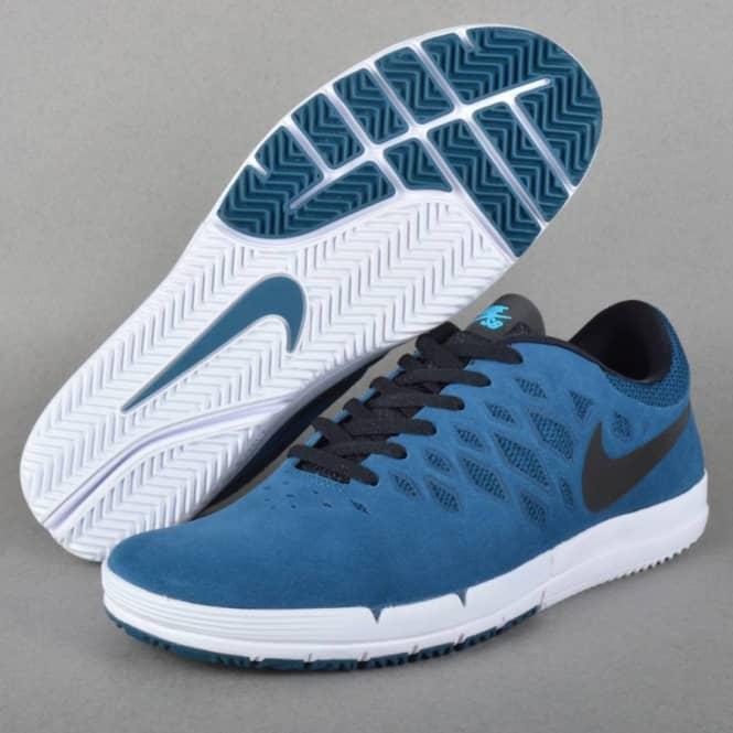 Nike SB Free SB Skate Shoes - Blue Force Black-Blue Lagoon - SKATE ... c7d254e38