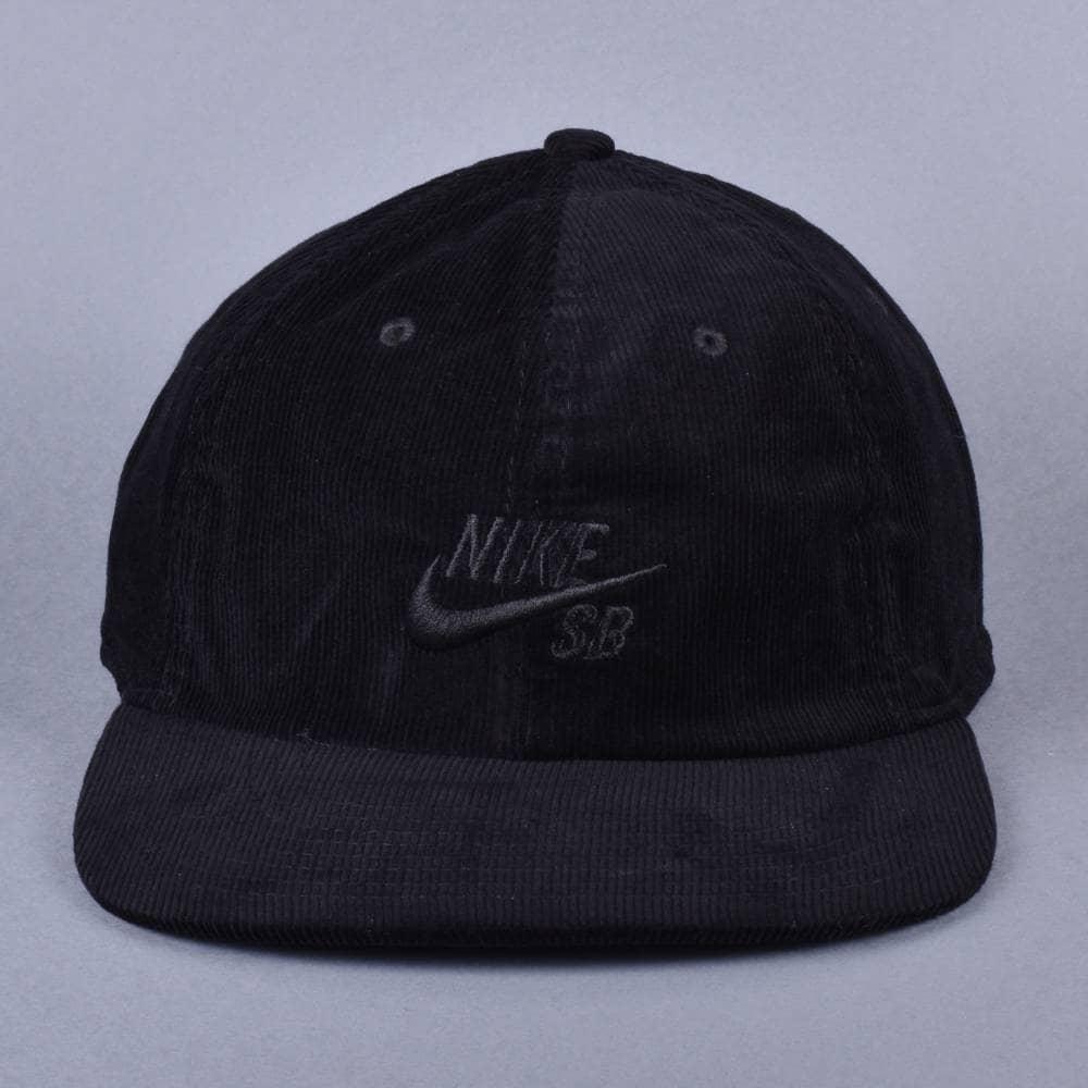 3c701f2f7320c Nike SB Heritage 86 Corduroy Strapback Cap - Black/Black - SKATE ...
