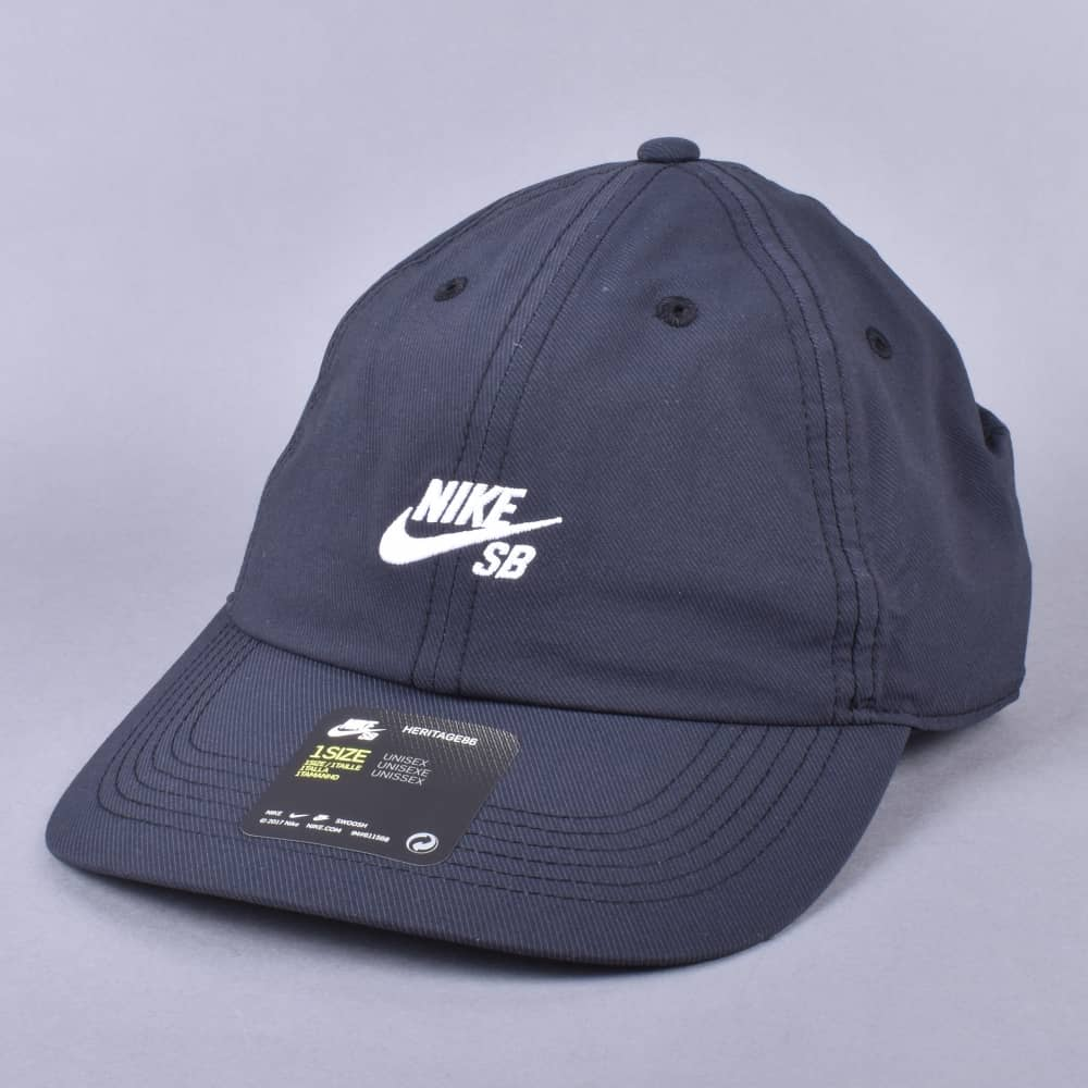 Nike SB Heritage 86 Strapback cap - Black White - SKATE CLOTHING ... 82c78c78486e