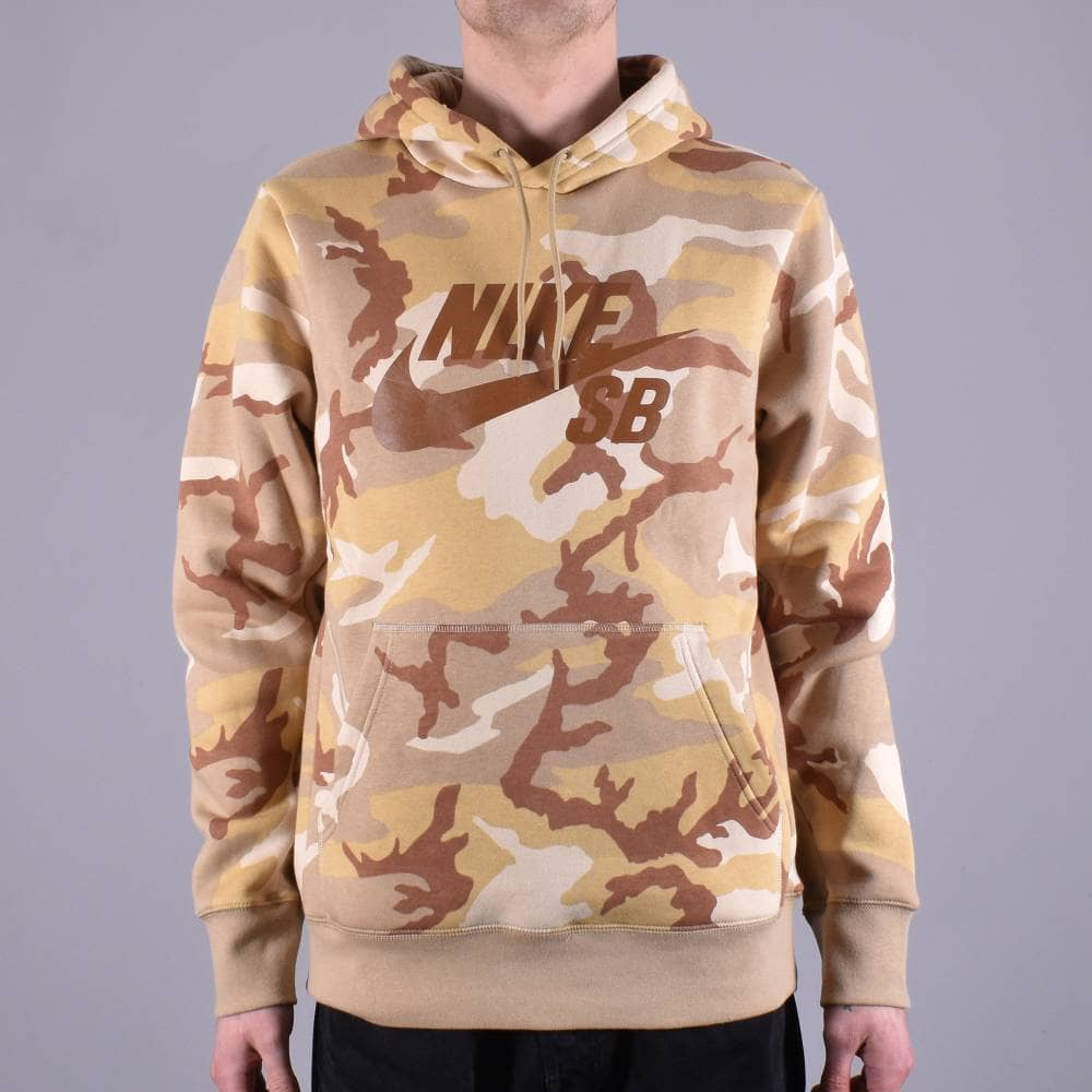 fresh styles well known best place Nike SB Icon Camo Pullover Hoodie - Desert Ore/Parachute Beige/Ale Brown