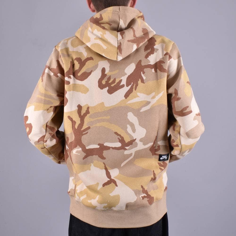 Nike SB Icon Camo Pullover Hoodie Desert OreParachute BeigeAle Brown